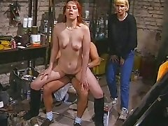 Redhead amateur Milf sucks and fucks with facial