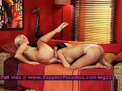 Carie and Katy lusty lesbian teens anal fingering
