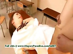 Nazuna Otoi naughty japanese teacher enjoys fucking students