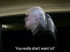 Blonde euro skank amateur polishing dick