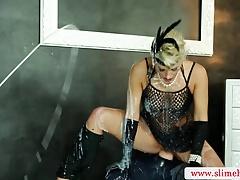 Bukkake lesbians using strapon
