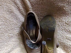Cum on my mom shoes 3
