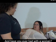 Chubby Granny has fun with her fat lover