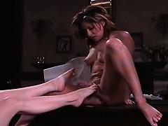 Foot masturbation and toe suck