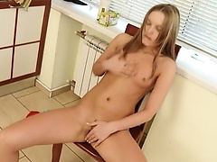 Ivana undress pussy on the chair