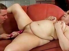 Fat grandma gets fucked rough