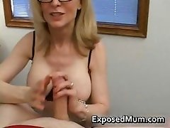 Blond milf in glasses licking rigid part6